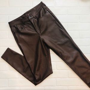 Free People Vegan Leather Pants